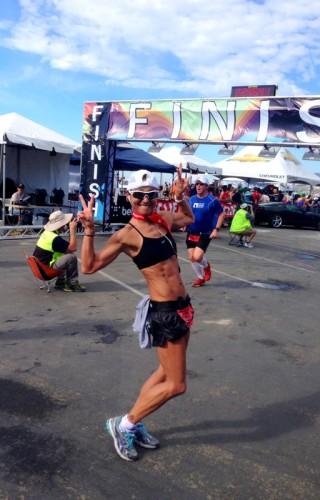 Malibu - finish line